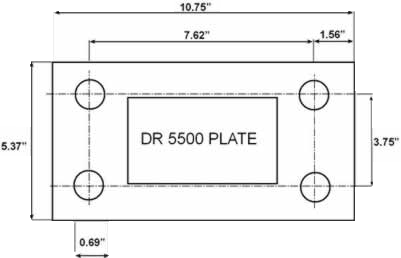 DR5500 PLATE NEW